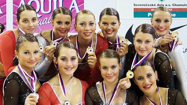 Juniorky z Fanatic aerobic teamu.