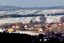 Krajinu pocukroval lednový sníh.