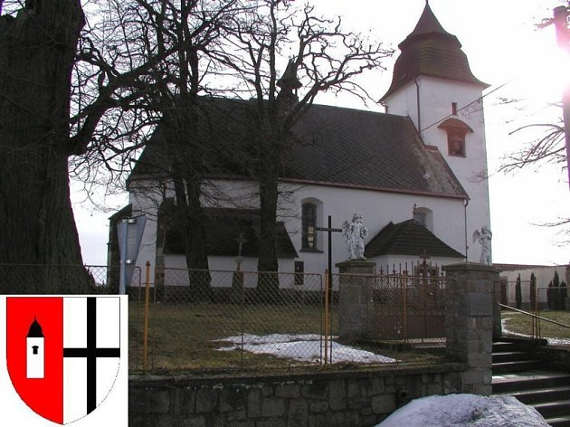 Číhošťský kostelík nesmí na znaku a praporu chybět.