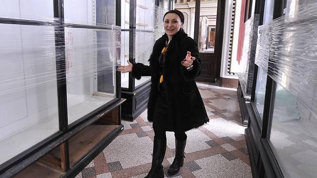 Podle Heleny Degerme (na snímku) ze společnosti Zámek Světlá zapůjčí historické zbraně Národní muzeum v Praze, obrazy a barokní sochy Muzeum Vysočiny v Třebíči.