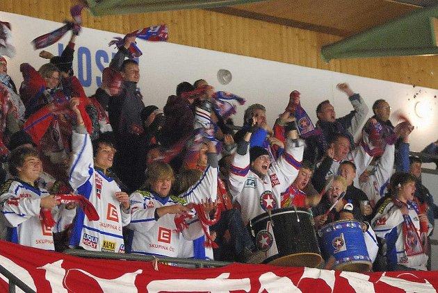 Z hokejového utkání Havl. Brod - Třebíč.