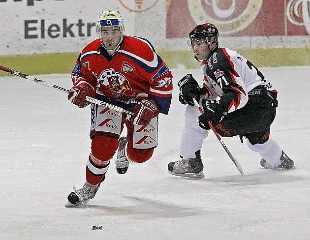 Z hokejového utkání HC Rebel - Znojemští Orli.