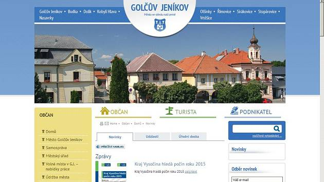 Golčův Jeníkov má nové webové stránky.