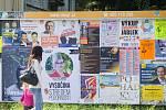 Politické billboardy v Havlíčkově Brodě.