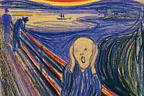 Výkřik. Nejznámější obraz norského malíře Edvarda Muncha. Repro:
