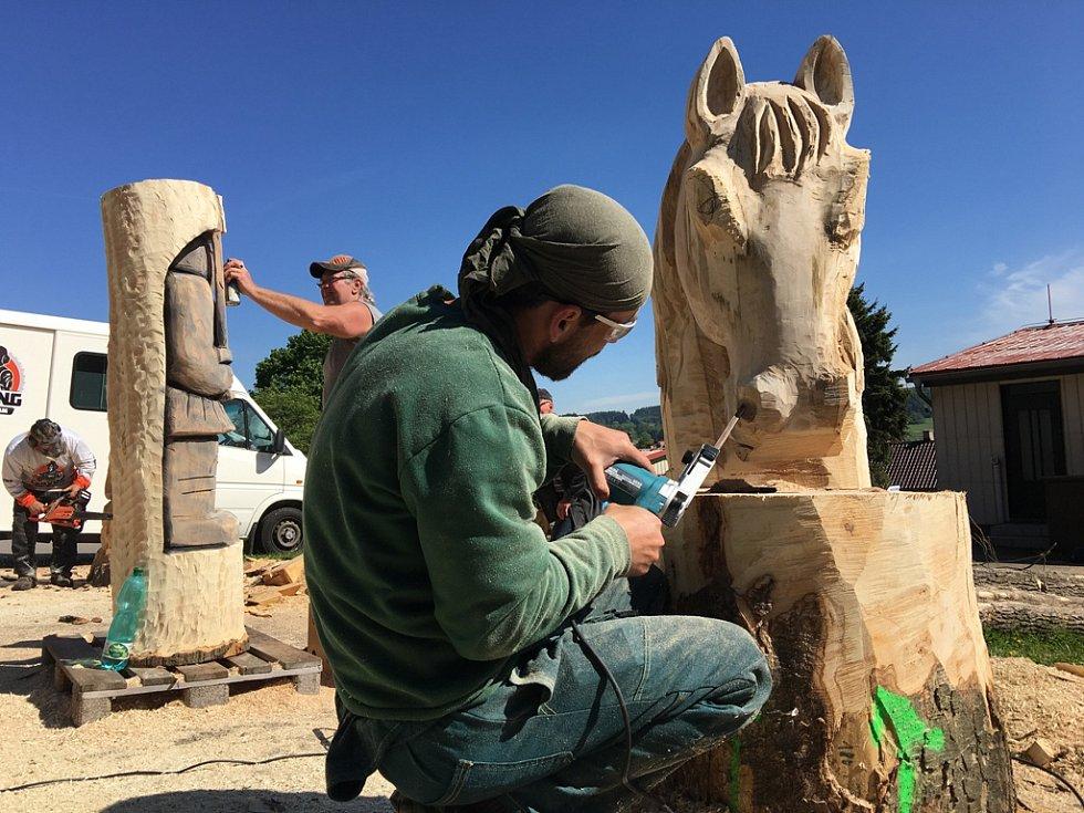 Podle pořadatelů Řezbářských dnů ve Štokách propadá této umělecké činnosti čím dál více lidí. Řezbářství motorovou pilou však patří mezi dražší záliby.