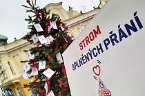 Strom splněných přání v Havlíčkově Brodě.