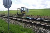 Na trati z Havlíčkova Brodu do Humpolce se pracuje. Cestující přepravuje do konce srpna autobus.