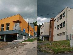 Centrum denních služeb i denní stacionář (na snímku vpravo) se nacházejí v jedné ulici.