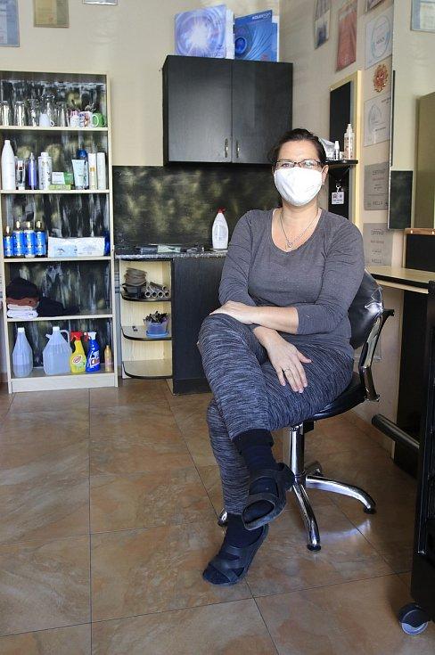Havlíčkobrodská kadeřnice Marie Valentová se připravuje na znovuotevření svého salonu.
