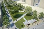 Vizualizace nové podoby náměstí.