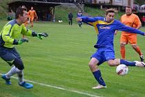 Štoky (u míče Jakub Lóži) podruhé za sebou prohrály hattrickem a bez vstřeleného gólu. Tentokrát si na nich smlsnul kostelecký Nikodým.