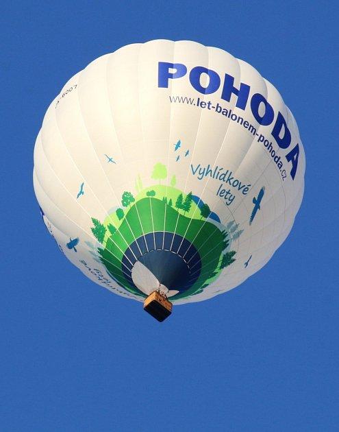 Balon nad Vysočinou.