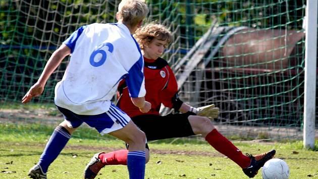 Pavoučím mužem byl v zápase s Vyškovem Patrik Soukal, který své mužstvo podržel.