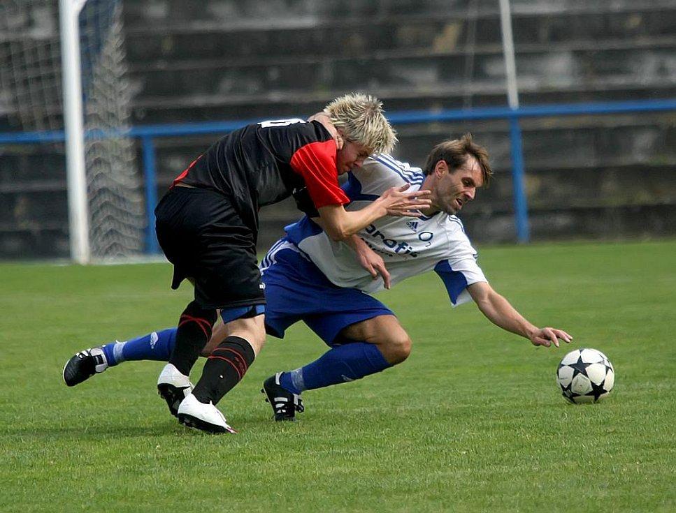 Z fotbalového utkání Humpolec - Herálec (HB).