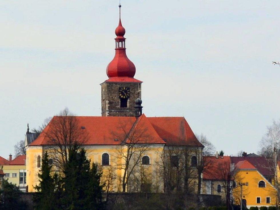 Farní kostel Narození sv. Jana Křtitele v Přibyslavi.