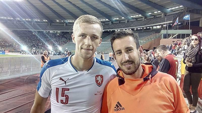 Prvním fotbalovým seniorským reprezentantem z Havlíčkova Brodu se stal Tomáš Souček. Přímo na tehdejší utkání do Belgie (1:2) ho přijel podpořit kamarád Tomáš Beran.