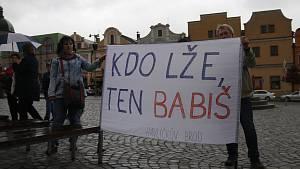 Demonstrace proti Andreji Babišovi
