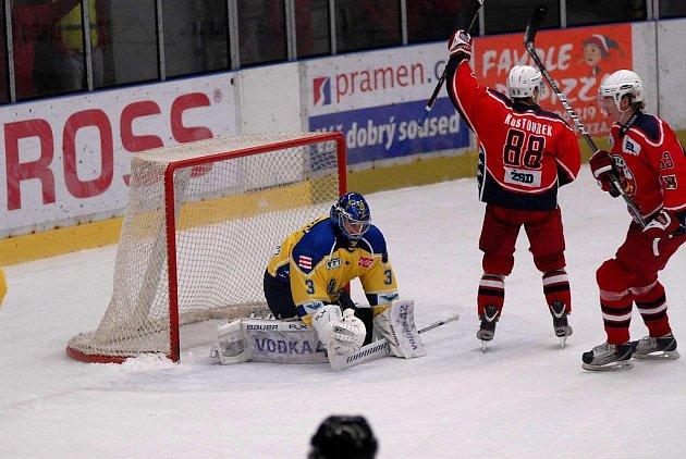Z hokejového utkání Havl. Brod - Ústí nad Labem.