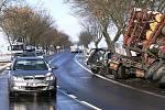 Dopravní nehoda u Březovic.