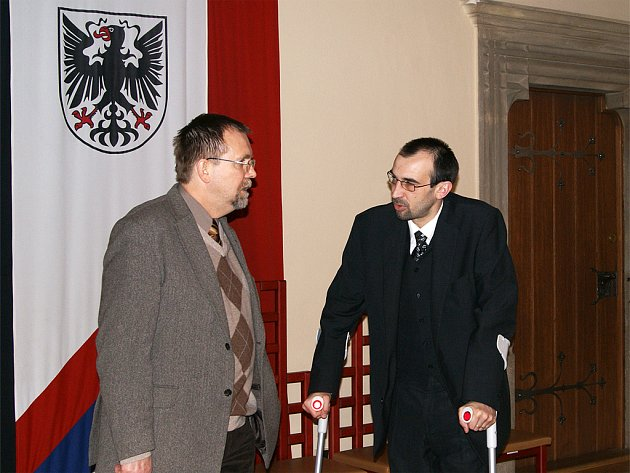 Hejtman Radko Martínek v Chrudimi.