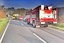 Ranní nehoda u Skutče si vyžádala jedno zranění.
