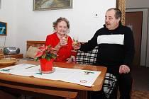 Oslava Silvestra v Domě s pečovatelskou službou v Třemošnici.