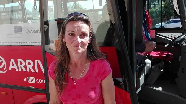 Řidička autobusu Hana Zahradníková