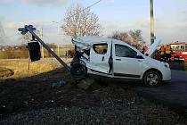 Na železničním přejezdu v Zaječicích ve čtvrtek došlo ke střetu vlaku a dodávky.
