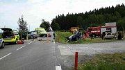 Nehoda u nebezpečné odbočky k zábavnímu parku..
