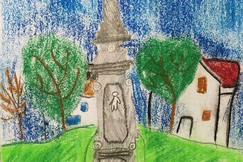Děti namalovaly mapu nejen pro cyklisty