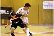 Z utkání 16. kola Jetbull Futsal ligy Era–Pack Chrudim – Slavia Praha 8:3.