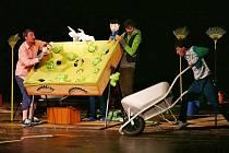 Představení během Loutkářské Chrudimi