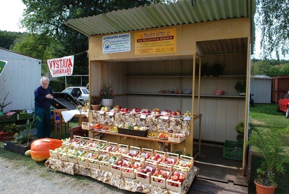 V Konopáči bylo co prohlížet a nakupovat. V nabídce nechyběly ani obří dýně.