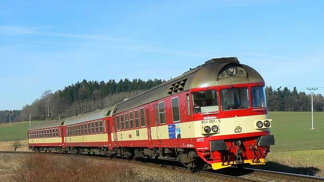 Rychlíkový spoj na trati 238 Pardubice - Havlíčkův Brod