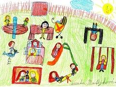 Dětské hřiště v obrázcích a představách prosečských dětí.