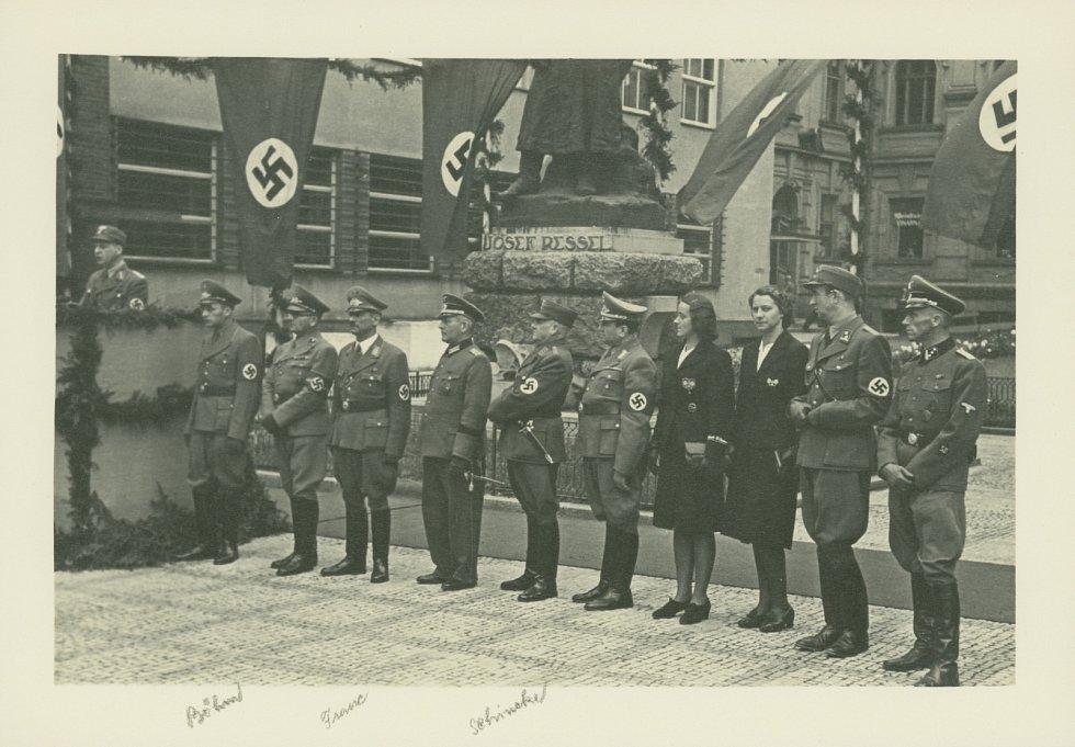 Chrudim během nacistické okupace za 2. světové války.