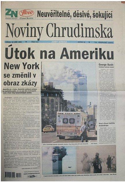 Psali jsme před deseti lety oteroristickém útoku vNew Yorku z11. září 2001.
