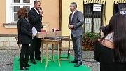 Z podpisu deklarace o spolupráci Chrudimě a Znojma.