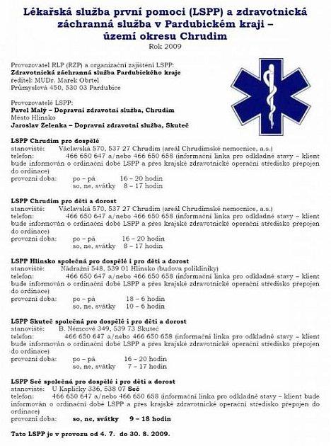 Rozspis LSSP od 4.7.do 30.8.