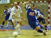 Z futsalového derby Era-Pack Chrudim -Torf Pardubice.