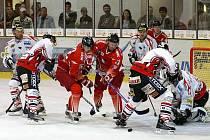 Z utkání I. hokejové ligy HC Chrudim - HC Olomouc 3:5.