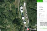 Letecký snímek areálu SSHR v Kostelci u Heřmanova Městce
