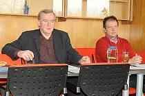 Zleva Josef Hrad a Roman Pešek.