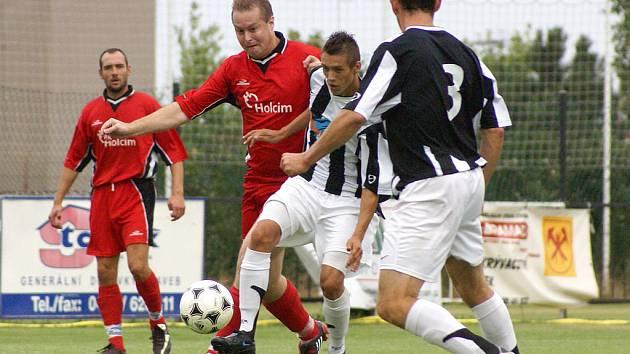 Fotbalové utkání I.A třídy SK Chrudim - Holcim Prachovice 8:1.