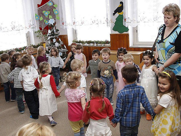 Vánoční besídka v Mateřské školce Budovatelů v Hlinsku.