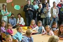 Prvňáci na Základní škole Dr. Jana Malíka v Chrudimi.