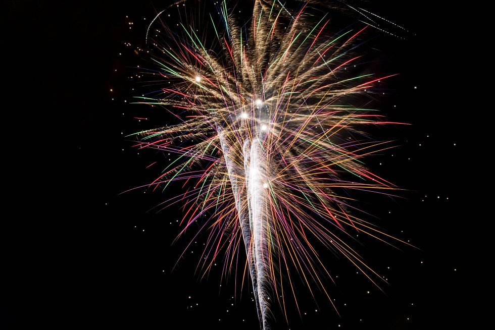 Novoroční ohňostroj v Chrudimi