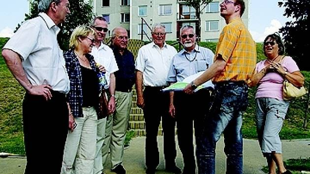 Delegace navštívila i sídliště Na Větrníku.