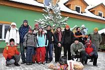 Vánoce se zvířátky v Záchranné stanici pro volně žijící živočichy v Pasíčkách v Boru u Skutče.
